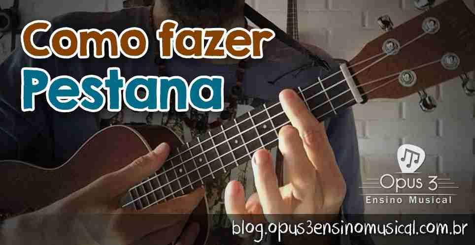 como fazer pestana ukulele